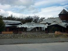 Restaurante quemado el día anterior