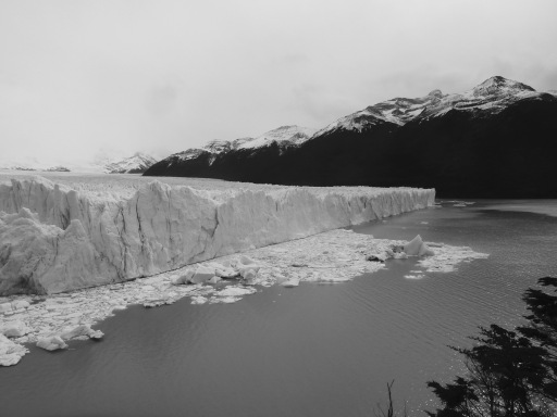 El frente norte del glaciar